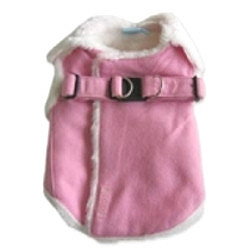 Fur Harness Jacket - Pink