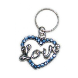 Charm - Love Heart - Large - Blue