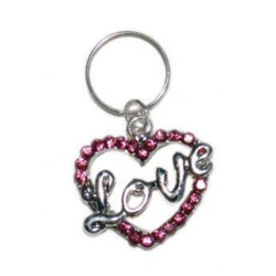Charm - Love Heart - Large - Pink