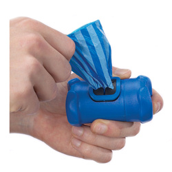 Bone Shaped Holder with Poop Bags - Blue