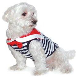Sailor with Bow Tie - Navy Stripes