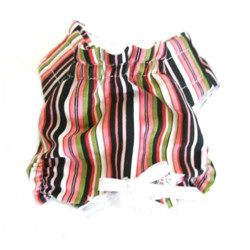 PANTIES - PINK WITH STRIPES (Doggie Design)