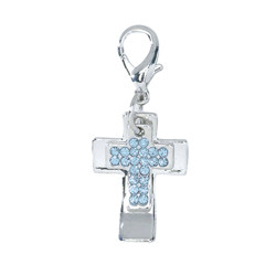 Double Cross Charm - Blue