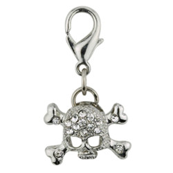 SCULL CHARM - CLEAR (Aria)