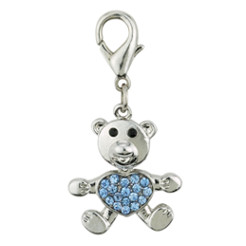 BEAR CHARM - BLUE (Aria)