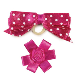 BOWS SET - HOT PINK - 2-PACK (Aria)