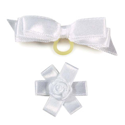 Bows Set - White - 2-pack