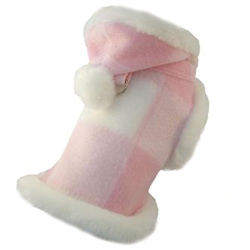 Fleece & white fur Coat - Pink