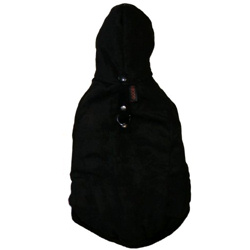 Suede Hood Jacket - Black