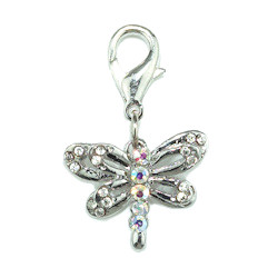 Dragon Fly Charm - Clear