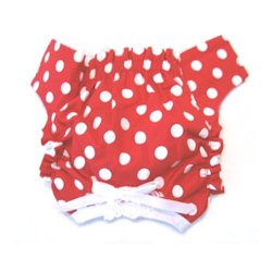 Panties - Red with White Dots