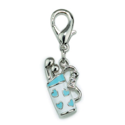 Golf Bag Charm - Blue