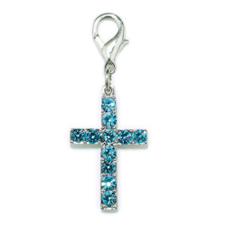 Charm Cross - Blue