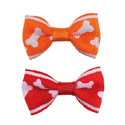 Bone Bows - Red & Orange