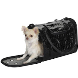 Croco Carrier Fancy - Black