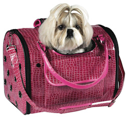 Croco Carrier Fancy - Hot Pink - Medium