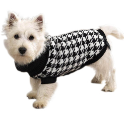 Houndstooth Knit Turtleneck
