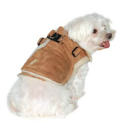 FUR HARNESS JACKET - BEIGE (DOGO)