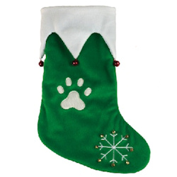 Christmas Stocking Bells - Green