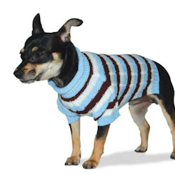 DOGO STRIPED KNITTED SWEATER - BLUE (DOGO)