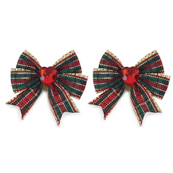 Christmas Bows - Plaid