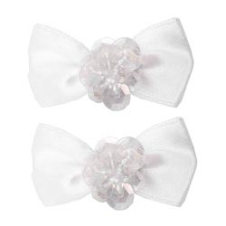 Pixie Bows Set - White - 2-pack