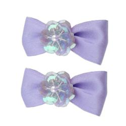 Pixie Bows Set - Purple - 2-pack