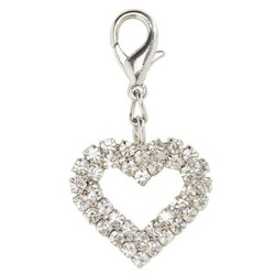 Crystal Heart Charm - Large - Clear