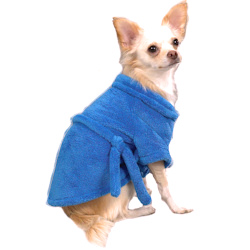 Soft Chenille Bathrobe - Blue