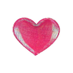 Shiny Heart Barrette - Hot Pink