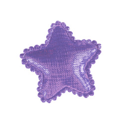 Shiny Star Barrette - Purple