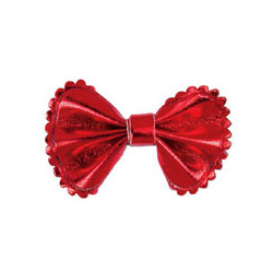 Metallic Bow - Red