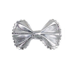 Metallic Bow - Silver