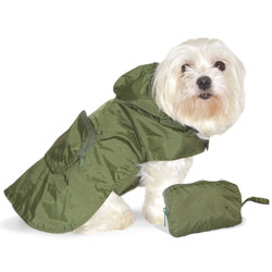 Dogo Pocket Rain Coat- Green