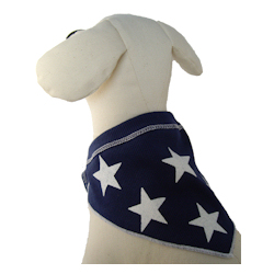 Navy Bandana with Stars
