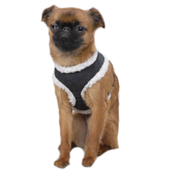 Sherpa/Suede Harness - Black