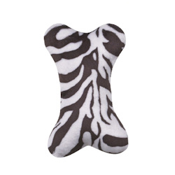 PLUSH MINI BONE - ZEBRA (Zanies)