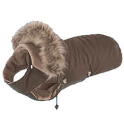 Dog Coat - Chocolate Brown