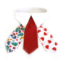 Collar & Tie Set with 3 ties