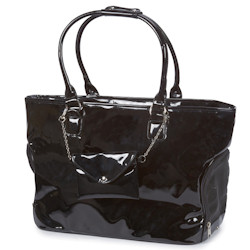 Patent Carrier with purse - Black