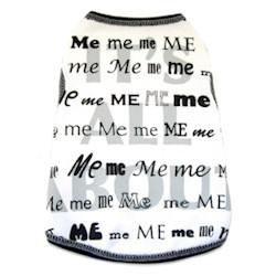 Me Me & Me Tank - White, Grey & Black