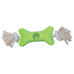 ALLROUND TOY - ROPE BONE - LIME (Zanies)