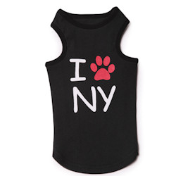 City Tank - I LOVE N Y - Black
