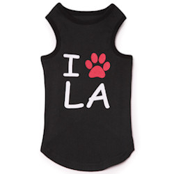 City Tank - I LOVE L A - Black