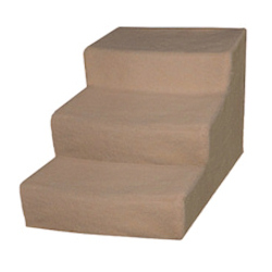 DOG STAIRS - CREAM / BEIGE - LARGE ()