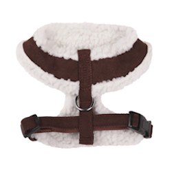 SHERPA/SUEDE HARNESS - CHOCOLATE BROWN (ESC)