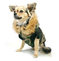 Winter Vest/Jacket - Green Camouflage