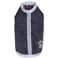 Reflective Dog Coat - Navy