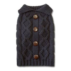 Cable Knit Sweater Cashmere - Grey
