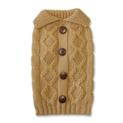 Cable Knit Sweater Cashmere - Camel